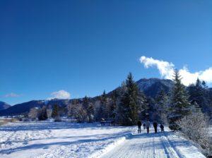 Winterspaziergang am Weissensee